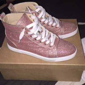 2dd2782c3ee7 Christian Louboutin Shoes - Pink Christian Louboutin Sneakers.